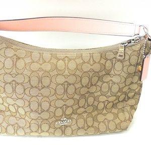 Coach Pink Tan Bag